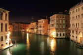 Venice: Night view from the Rialto Bridge — Stock Photo