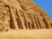 Abu Simbel, Egypt: The magnificent Temple of godess Hathor — Stock Photo