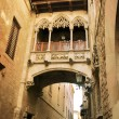Stock Photo: Barcelona: neogothic bridge at Carrer del Bisbe (Bishop Street),