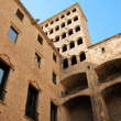 Stock Photo: Barcelona: medieval Palau Reial (Royal Palace in catalan) at Pla