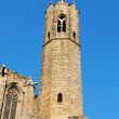 Barcelona: medieval Tower of Santa Agata Chapel (also known as K - Stock Photo