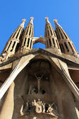 Barcelona: La Sagrada Familia - the amazing cathedral designed by Gaudi, in construction since 1882, after Pope Benedict XVI consecration in 2010. January 16, 2011 in Barcelona, Spain. — Foto Stock