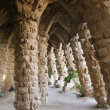 Barcelona: Main entrance to Parc Guell, famous and beautiful park designed by Antoni Gaudi, one of highlights of city — Stock Photo #24985961