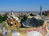 Barcelona: Park Guell, the famous and beautiful park designed by Antoni Gaudi, one of the highlights of the city — Stockfoto