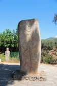 Menhirs with human faces and bodies at Filitosa archeological si — Stock Photo