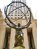 NEW YORK - DECEMBER 3:: The Atlas Statue at the Rockefeller Cent — Stock Photo