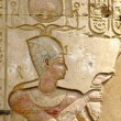 Temple of Kom Ombo, Egypt: polychromed relief of the Pharaoh — Stock fotografie #44939293