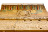 Temple of Kom Ombo, Egypt: polychromed carvings — Stock Photo