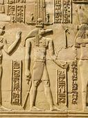 Temple of Kom Ombo, Egypt: Sobek - the crocodile-headed god of t — Stock Photo
