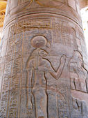 Temple of Kom Ombo, Egypt: relief of Sekhmet, the ancient lion-h — Stock Photo