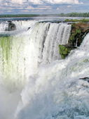 Brazil: Iguazu Waterfalls, seen from the Argentinian side. — Stock Photo