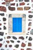 Santorini, Greece: detail of a window from a traditional typical — Stock Photo