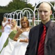 Stock Photo: Brides and bridegroom