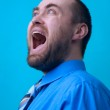 Man making why face — Stock Photo