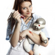 Stock Photo: Old style nurse
