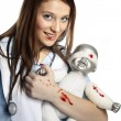 Old style nurse — Stock Photo