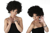 Afro style woman — Stock Photo