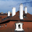Roofs and chimneys of old town — Stock Photo