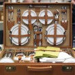 Stock Photo: Suitcase with kitchenware