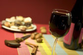 Holiday Red Wine — Stock Photo