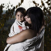 Young lady with baby — Stock Photo