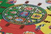 Mandala - traditional sand ornament — Stock Photo