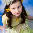 Little girl posing like a princess in studio — Stock Photo