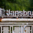 Inscription on the bridge, the Netherlands — Stock fotografie