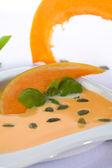 Zupa dyniowa z plastry dyni — Zdjęcie stockowe