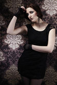 Nice lady model posing in interior — Stock fotografie