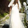 Bride outdoor — Stock Photo