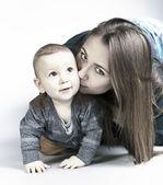 Mamma med son — Stockfoto