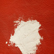 White spot on red wall — Zdjęcie stockowe