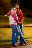 Loving couple in the mountain — Stock Photo