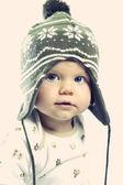 Little boy playing in studio — Stok fotoğraf