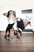 Fitness dance in studio — Stock Photo