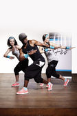 Nice trio working out — Stock Photo