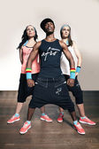 Serious poses for fitness promo — Stock Photo