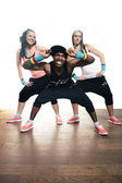 Nice Afro fitness styling — Stock Photo
