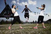 Fitness jump — Stock Photo