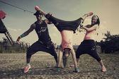 Fitness acrobat — Stock Photo