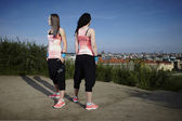 Fitness mode girls — Stock Photo