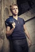 Blonde jongen — Stockfoto