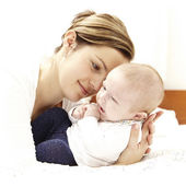 Nice couple of mother and baby — Stock Photo