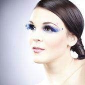 Nice girl posing for beauty portrait — Stok fotoğraf