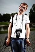 Crazy photographer — Stock Photo