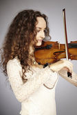 Musician lady - violinist — Stock Photo