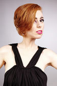 Pretty redhead lady in bra — Stock Photo