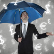 Rain currencies — Stock Photo