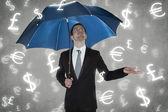 Rain currencies — Stock Photo